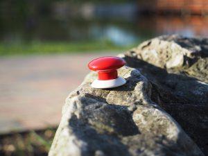 Fibaro Button na kamieniu
