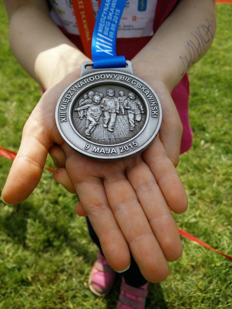 Bieg skawiński medal